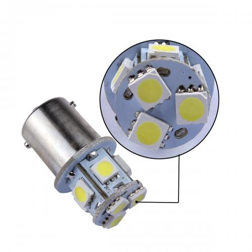 1156 LED Bulb - 8 SMD LED Tower - BA15S Retrofit [White Light] - Perfect for Vehicle Tail Lights, Brake Lights, Reverse Lights, Turn Signals, ETC!
