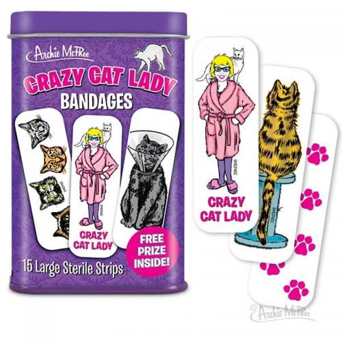 Crazy Cat Lady Bandages - Free Prize Included!