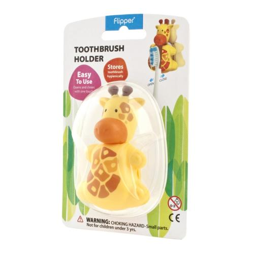 Yellow Giraffe Flipper Toothbrush Holder