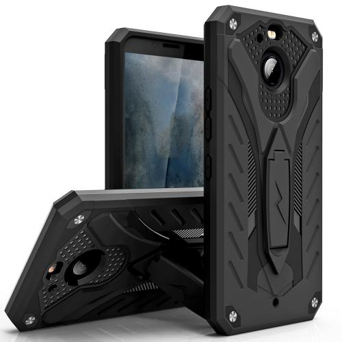 Made for [HTC Bolt]-Static Series: Dual Layer Hard Case TPU Hybrid [Military Grade] w/ Kickstand & Shock Absorption [Black]