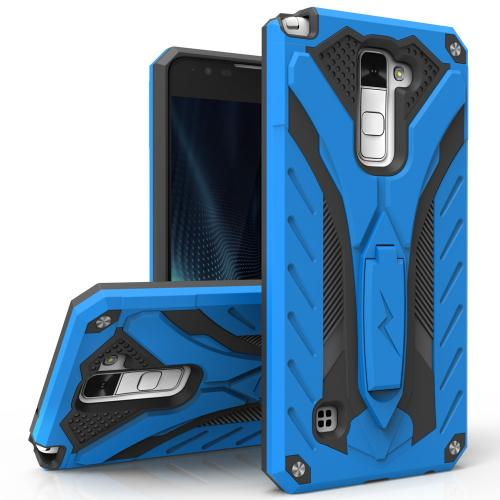 Made for [LG Stylo 2 Plus]-Static Series:  Dual Layer Hard Case TPU Hybrid [Military Grade] w/ Kickstand & Shock Absorption [Blue/ Black]