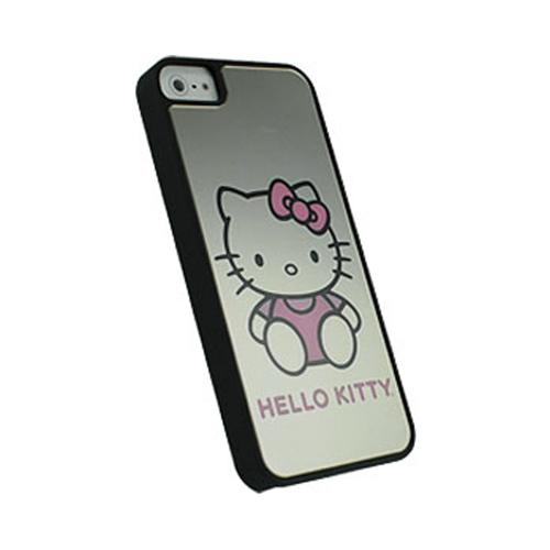 Made for Apple iPhone SE / 5 / 5S  Case, Hello Kitty [Black w/ Mirror Effect]  Hard Case