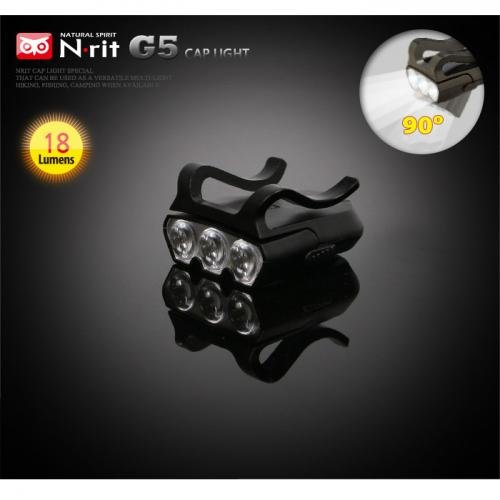 N-Rit MasterVision 3 LED Swivel Cap Light - Ultra Bright & Attaches to Cap Brim!