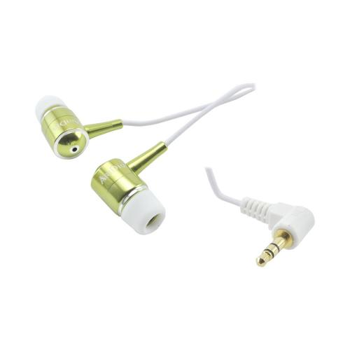 OEM Kinyo High Fidelity Earbuds w/ Extra Bass (3.5mm), KY-11004GREEN - Green/ White