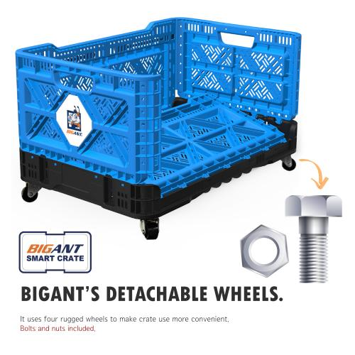 [BIGANT] Crate Swivel Caster Wheel [Set of 4 Pcs] - Accessory for Portability, Roll Crate Cart Rolling Totes