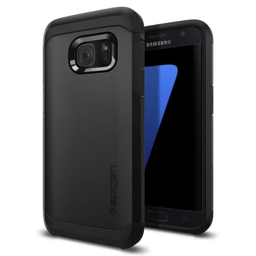 Samsung Galaxy S7 Case, Spigen [Tough Armor] HEAVY DUTY Extreme Protection / Rugged but Slim Dual Layer Protective Case [Black]