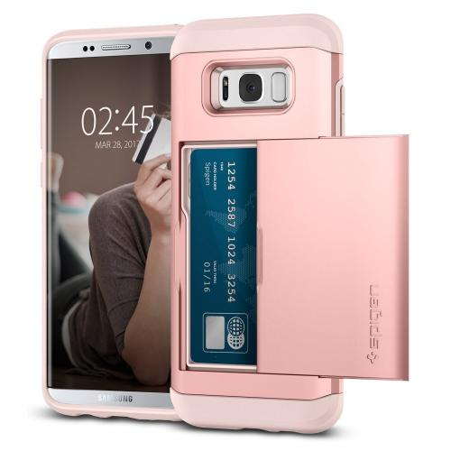 Samsung Galaxy S8 Plus Case, [Spigen] Slim Armor CS Case W/ Slim Dual Layer Wallet Design and Card Slot Holder [Rose Gold]