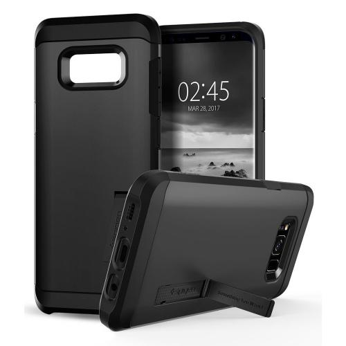 Samsung Galaxy S8 Plus Case, [Spigen] Tough Armor Case w/ Kickstand, Extreme Heavy Duty Protection and Air Cushion Technology [Black]