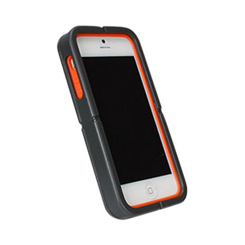 Apple iPhone SE / 5 / 5S  Case, Incase Systm [Gray/ Orange]  Hard Cover on Silicone Case w/ Belt Clip