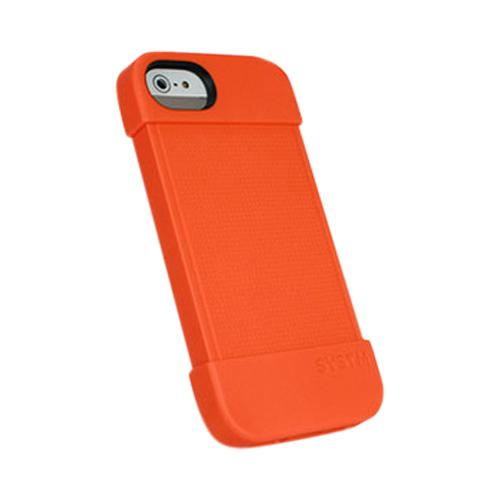 Apple iPhone SE / 5 / 5S  Case, Incase Systm [Orange] Hammer Series Silicone Case