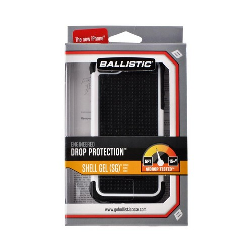 OEM Ballistic Apple iPhone 5/5S SG Hard Case on Silicone  SG0926-M385 - Black/ White