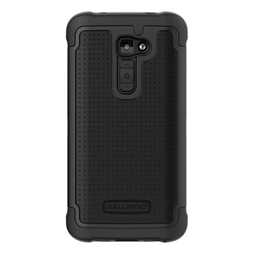 Ballistic Black Shell Gel (SG) Series Hard Case on Silicone for LG G2 (Verizon Version) - SG1233-A065