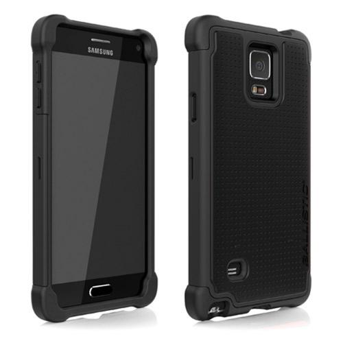 Samsung Galaxy Note 4 Case, Ballistic [Black] TOUGH JACKET Series Hard Case on Silicone Skin Case