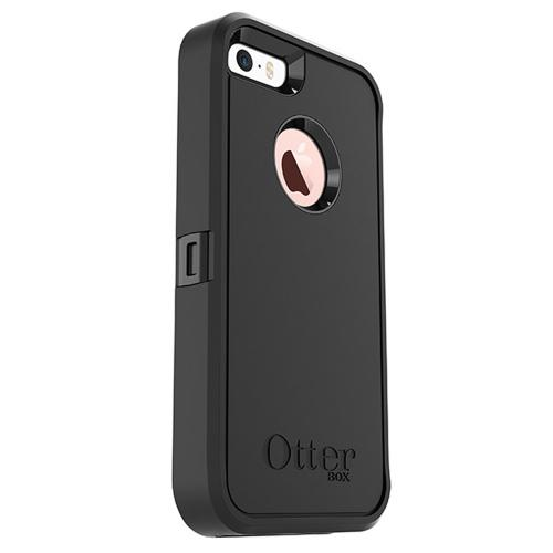 Apple iPhone SE/5/5S Case, Otterbox [Black] Defender Series Hard Cover Case w/ Holster