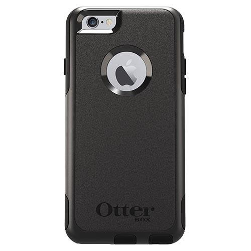 Apple iPhone 6S Plus / 6 Plus Otterbox Case, [Black] Commuter Series Hybrid Hard Cover Case w/ Screen Protector