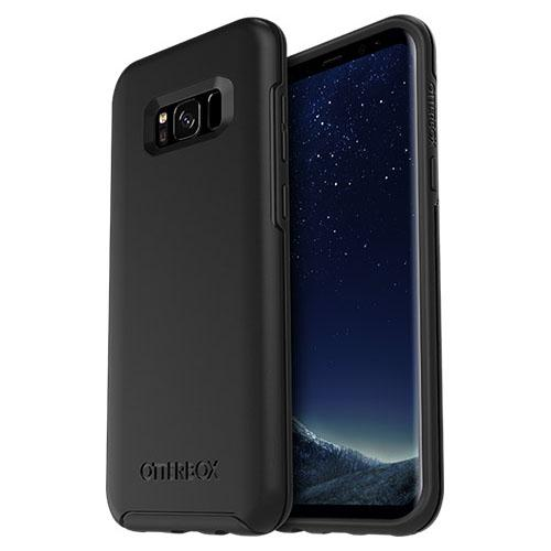 Samsung Galaxy S8 Plus Case, Otterbox [Black] Symmetry Series Hard Cover Case