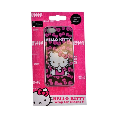 Apple iPhone SE / 5 / 5S  Case, Sanrio [Hello Kitty w/ Hot Pink Bows]  Hard Back Cover - KT4489PBB
