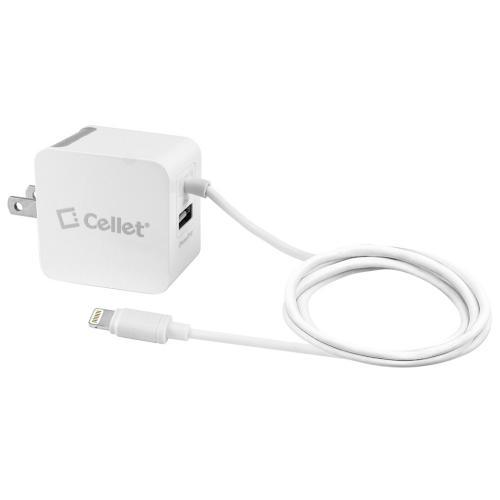 Cellet White 3100mAh (3.1Ah) Home Travel Wall Charger with USB Port for Apple iPad, iPhone, iPod (Licensed by Apple, MFI Certified)