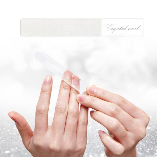 100 % Natural Crystal Nail Shiner File, Pusher, Buffer (shinning) - All in One! [Made In Korea]