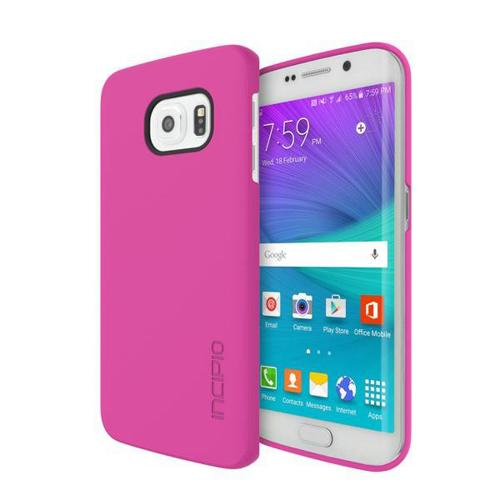 Samsung Galaxy S6 Edge Case, Incipio [Pink]  Slim Grip Rubberized Matte Snap-on Hard Polycarbonate Plastic Protective Case