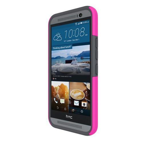 HTC One M9 Case, Incipio [Pink/ Gray] DUAL PRO Series Dual Layer Rubberized Hard Cover on Silicone Skin Protective Hybrid Case