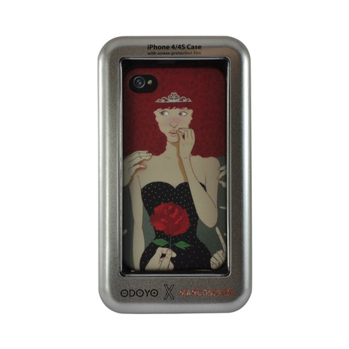 Odoyo X Marcos Chin Series Red Head Hard Case for Apple iPhone 4/4S