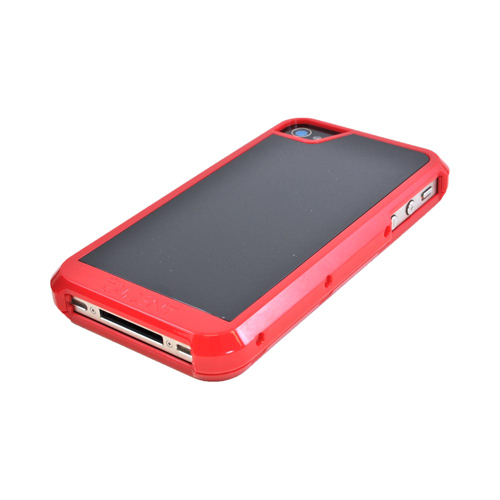 OEM Trident Apollo Apple iPhone 4/4S Hard Case w/ Interchangeable Plates & Screen Protector - Red/ Black