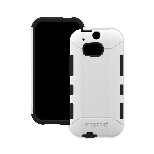 HTC One (m8) Dual Layer Case by Trident [White] Aegis Series Featuring Hardened Polycarbonate Over Silicone Skin Hybrid Case W/ Screen Protector