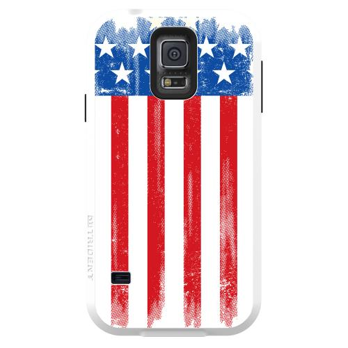 Galaxy S5 Dual Layer Case by Trident [US Flag] Aegis Series Featuring Hardened Polycarbonate Over Silicone Skin Hybrid Case W/ Screen Protector
