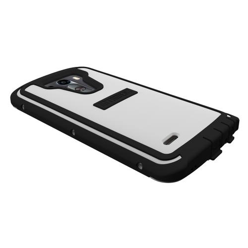 Trident White/ Black Lg G3 Cyclops Series Thermo Poly Elastomer (super Tough) Hard Case W/ Built-in Screen Protector - Amazing Protection!