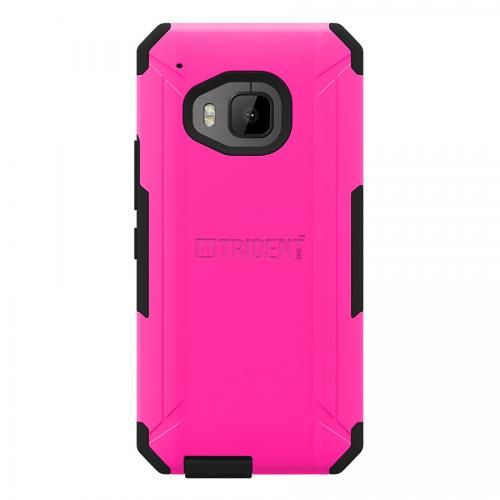 HTC One M9 Case, Trident [Hot Pink] AEGIS Series Slim & Rugged Hard Case Over Silicone Skin Dual Layer Hybrid Case w/ Screen Protector
