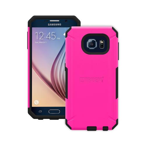 Samsung Galaxy S6 Case, Trident [Pink/ Black] AEGIS Series Slim & Rugged Hard Case Over Silicone Skin Dual Layer Hybrid Case w/ Free Screen Protector