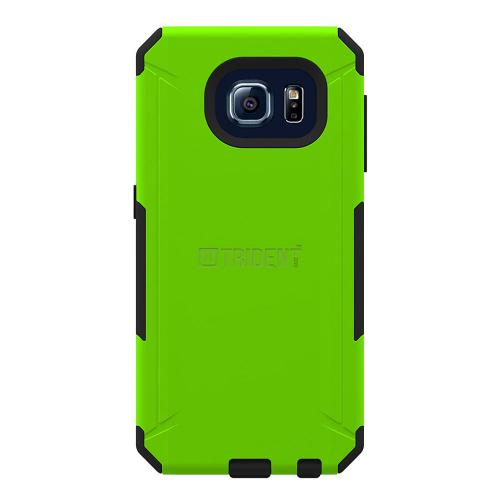 Samsung Galaxy S6 Case, Trident [Lime Green/ Black] AEGIS Series Slim & Rugged Hard Case Over Silicone Skin Dual Layer Hybrid Case w/ Free Screen Protector