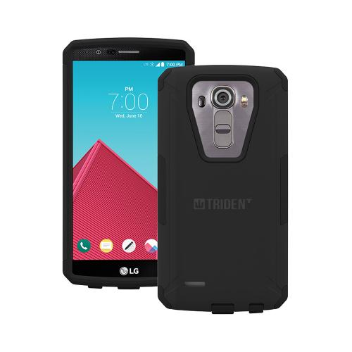 LG G4 Case,Trident [Black] AEGIS Series Slim & Rugged Hard Cover Over Silicone Skin Dual Layer Hybrid Case w/ Screen Protector