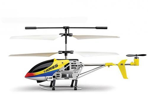 "7"" MJX T638 Mini Thunderbird RC Helicopter Yellow"