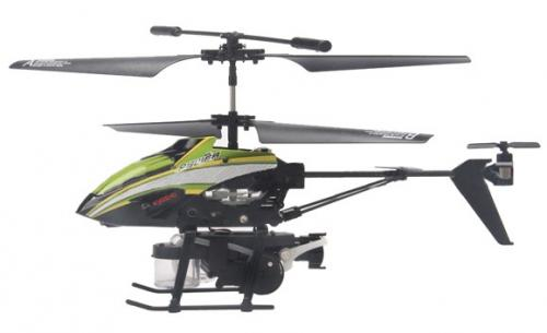 "8"" WL V757 Bubble Master 3.5CH RC Bubble Helicopter with Gyro Green"