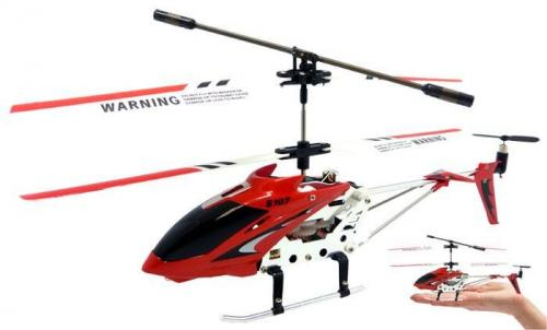 "8.7"" Mini 3CH S107 Metal Helicopter w/Gyro Red"