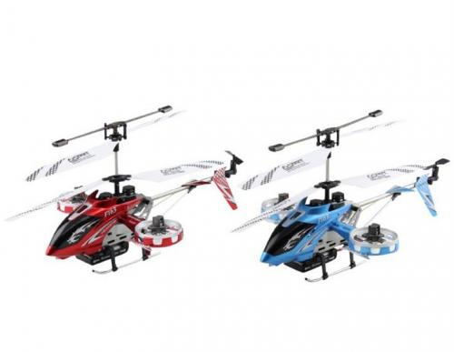 "14"" F163 Fire Wolf 4.5CH RC Dual side-fly Helicopter RTF Blue"