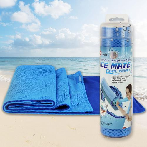 N-Rit [Blue/ Navy] Ice Mate Cool Towel w/ Cooling Technology - Beat the Heat!