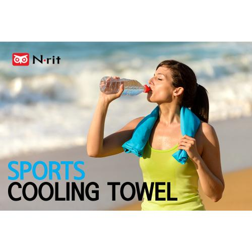 2-Pack N-Rit Ice Mate Cooling Sport Towel [Blue] Advanced Cooling Towel Designed for All Sports Players, Golf Towel, Gym Towel, Yoga Towel and More