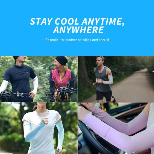 N-Rit Tube 9 Coolet 2 Cooling Compression Sports [2 PK] Arm Sleeve [White] w/ 99% UV Protection for Outdoor Activities (Golf, Training, Cycling, etc)