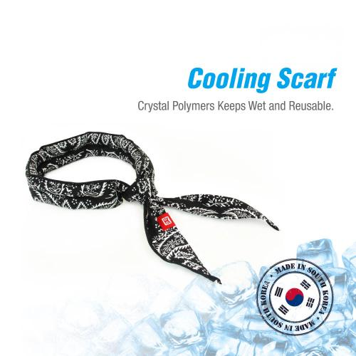 Cooling Scarf Chilling Sports Scarf/Headband/Neck Wrap w/ Crystal Polymer Cooling Technology - Stays COOL for HOURS! (Great for Outdoors, Exercise, Running, Hiking, Headaches, Sore Muscles, Hot Flashes) - Reusable [Tan Camo Design] [4 PK]