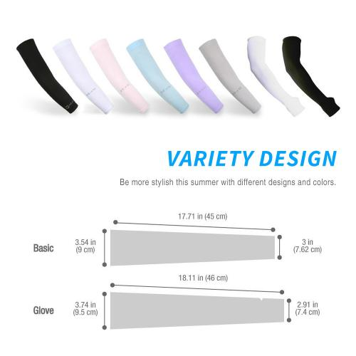 [2 Pack] N-Rit Black Tube 9 Coolet Cooling Compression Arm Sleeve w/ UV Protection - UPF 50 +!