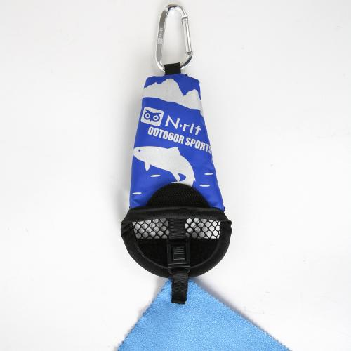 N-Rit [Blue] Campack Medium Cleaner 15.7x15.7 (40x40cm) Microfiber Cloth - Perfect for Hiking!