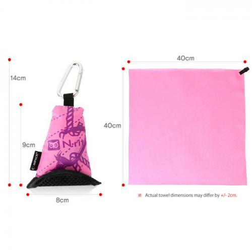 N-Rit [Pink] Campack Large Cleaner 20.4x25.2 (52x64cm) Microfiber Cloth - Perfect for Hiking!