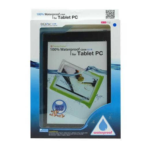 "DiCAPac Light Blue Waterproof Case w/ Handle for 10"" Tablets - WP-T20"