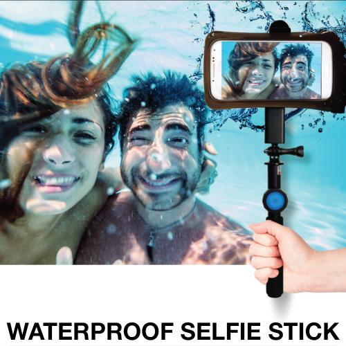DiCAPac Action Waterproof Selfie Bundle for Devices Up to 5.1 inches - Perfect for Galaxy S6 and iPhone 6/ SE