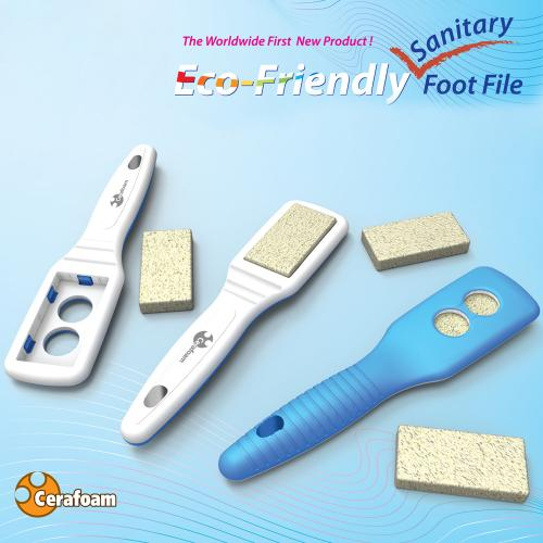 Pedicure Callus Remover / Foot File / Foot Scrubber With 6 Natural Eco-friendly Ceramic Pads Pumice Stones - Get Beautiful, Smooth, Soft Feet