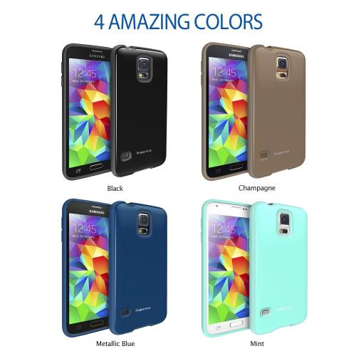 Champagne Samsung Galaxy S5 Ringke Flex Series Premium Flexible Tpu Strong N Soft Case W/ Free Screen Protector - Conforms To Your Phone!
