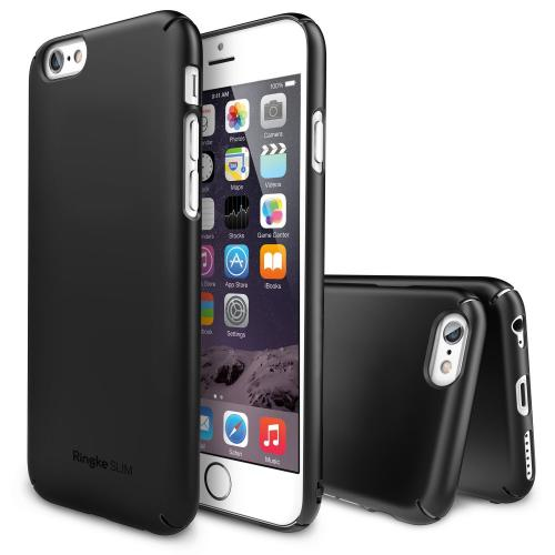 "Black Apple iPhone 6 (4.7"") SLIM Series Premium Dual Coated Hard Cover Case"